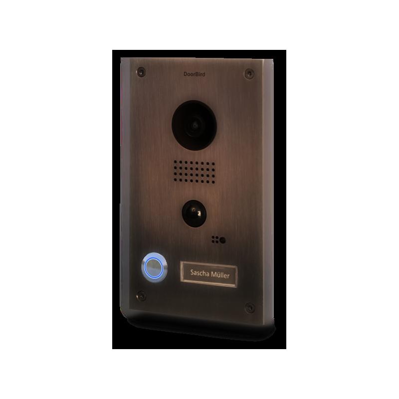 Portier vidéo connecté IP - Bronze massif - encastré - DoorBird - D202BB