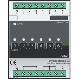 Module de commande pour six circuits différents Niko Home Control