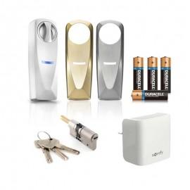 Pack serrure connectée avec passerelle internet et lecteur de badges - Somfy