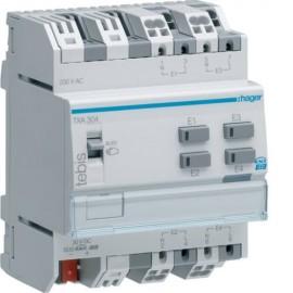 TXA304 - Module KNX 4 entrées modulaires 230V~ - Hager