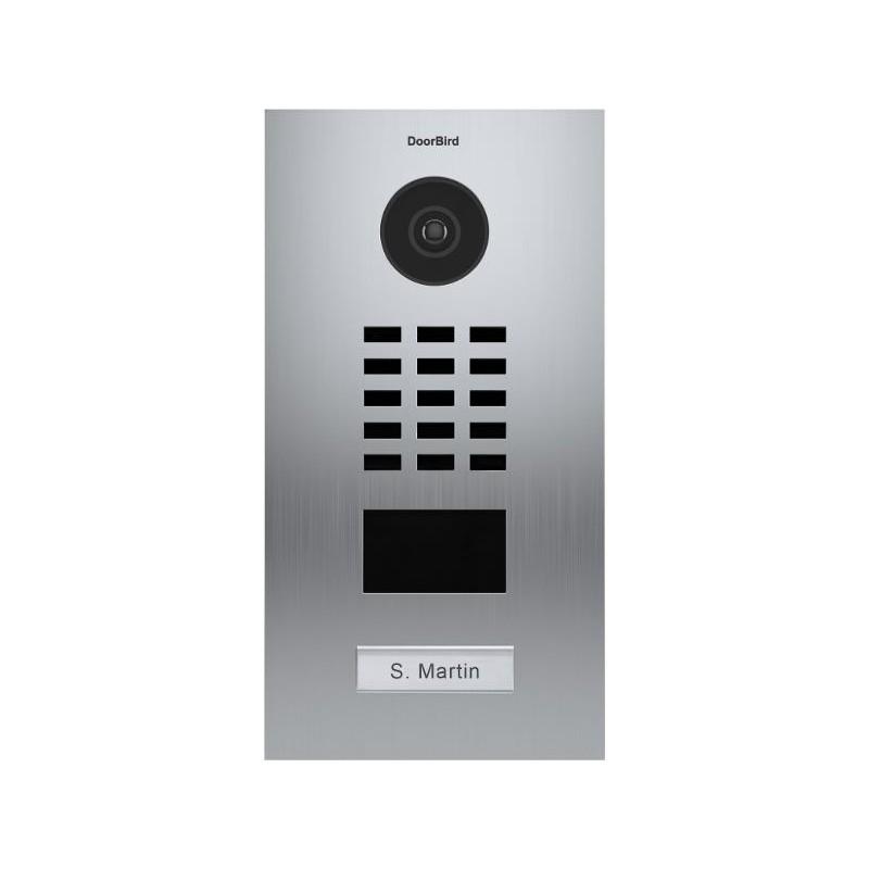 Portier vid o connect ip acier bross encastr doorbird - Portier video wifi ...