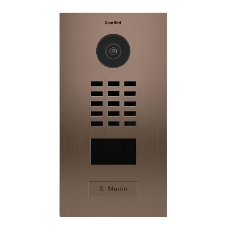 Portier vidéo connecté IP - acier inoxydable brossé (Bronze finish) - encastré - DoorBird - D2101BV