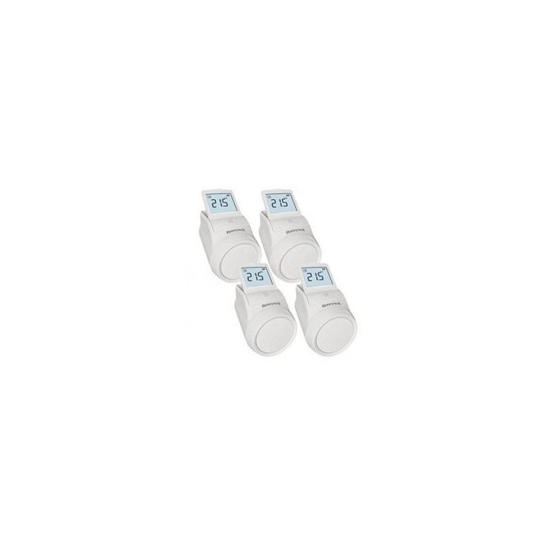 Pack de 4 Têtes thermostatique programmable sans fil HR92 EVOHOME - Honeywell - HR924WE