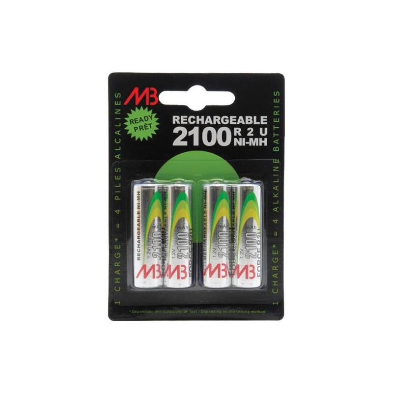 Blister de 4 piles LR06 AA Rechargeables / 1,2V / 2Ah – NX