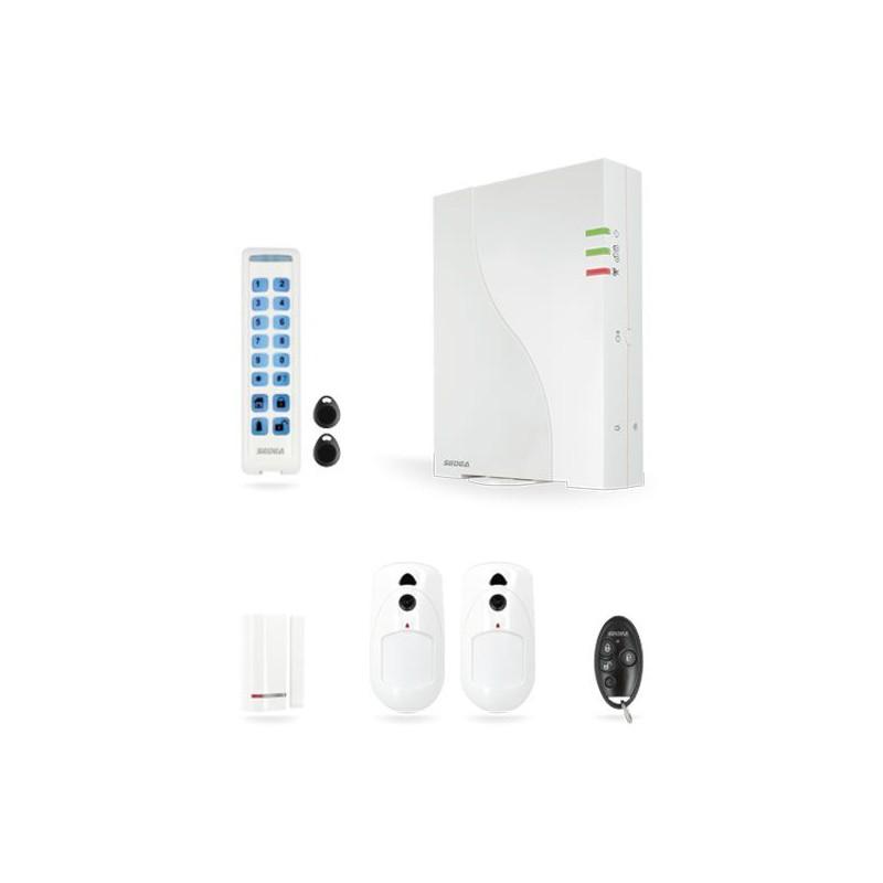 kit 2 alarme sans fil gsm gprs ip wicomm risco. Black Bedroom Furniture Sets. Home Design Ideas