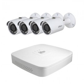 Kit vidéosurveillance NVR 4 PoE + 4 caméras Tubes IP 3MP - DAHUA