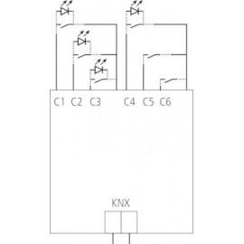 TA 6 KNX - Module KNX 6 entrées à encastrer - Theben
