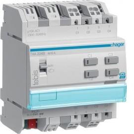 TXA204B - Module KNX 4 sorties 10A / 230V~ - Hager