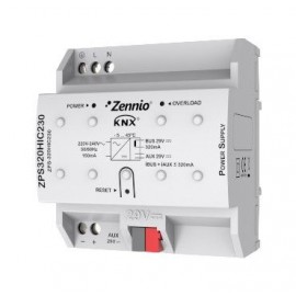 Source d'alimentation KNX 320mA avec auxiliaire de 29VDC. Vin:230VAC - Zennio - ZPS-320HIC230