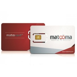 Matoocard - Carte sim M2M Data - 2 ans - 15 Mo - Multi-opérateur - Matooma