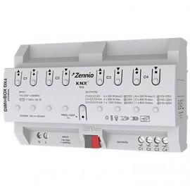 DIMinBOX DX4 - Actionneur KNX variateur universel (RLC, LED, CFL) pour rail DIN - Zennio