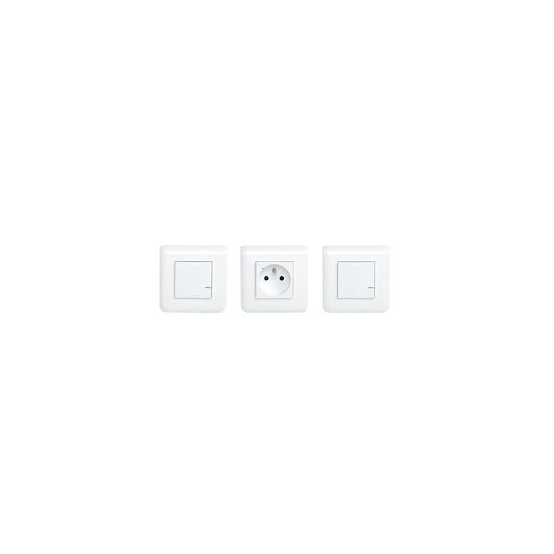 Kit extension avec 3 produits Mosaic with Netatmo avec plaque Blanc - Legrand - 077730