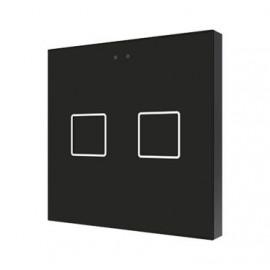 Flat - Interrupteur capacitif KNX - 2 boutons et sonde température - Zennio - ZVI-F2