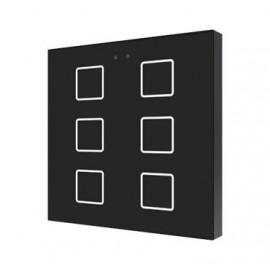 Flat - Interrupteur capacitif KNX - 6 boutons et sonde température - Zennio - ZVI-F6