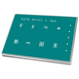 Touch-MyDesign Plus - Interrupteur capacitif KNX - Thermostat - Cadre polycarbonate - 8 boutons -  Zennio - ZVI-TMDP8-P