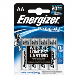 Pile Ultilmate Lithium AA x 4 - Energizer - 262643