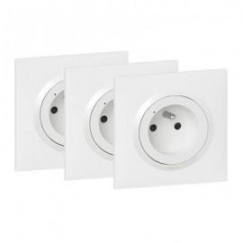 Pack prises de courant installation connectée dooxie with Netatmo 3 prises électriques connectées - blanc - Legrand - 600698