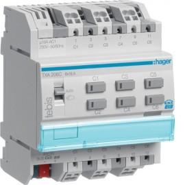 TXA206C - Module KNX 6 sorties 16A / 230V~ - Hager