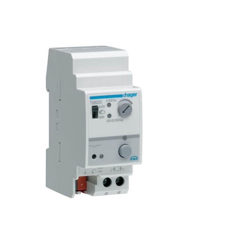 TXA025 - Interrupteur crépusculaire KNX 6 Entrées - Hager
