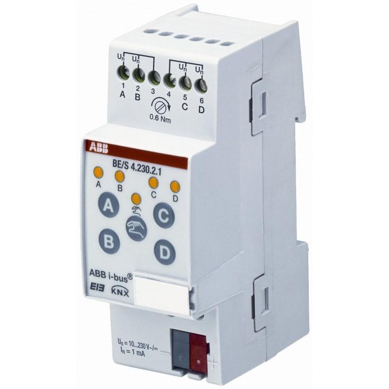 Module 4 entrées TOR, 10 – 230 V AC/DC, MRD - BE/S4.230.2.1 - ABB