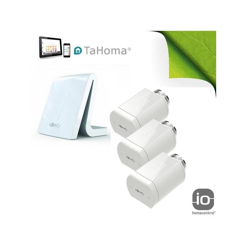 Pack chauffage tête thermostatique io - TaHoma V2 - Somfy