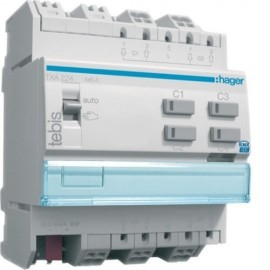 TXA224 - Module KNX 4 sorties volets ou stores 230V~ - Hager