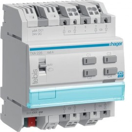 TXA226 - Module KNX 4 sorties volets roulants ou stores 24V DC - Hager