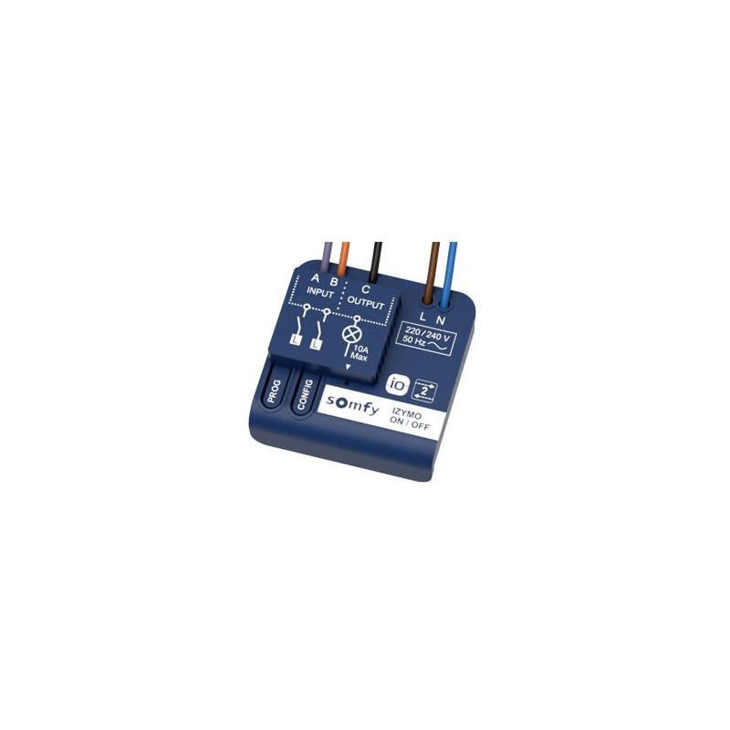 Micro-récepteur d'éclairage IO - on/off - IZYMO - Somfy - 1822649