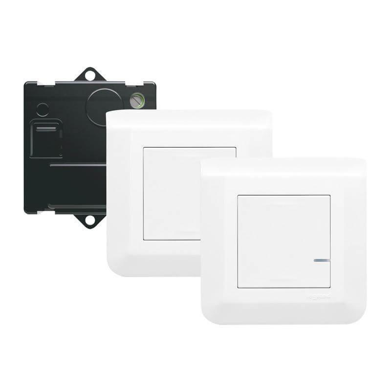 KIT Mosaic va-et-vient 2 commandes sans fil + 1 micromodule - blanc - Legrand - 077777L
