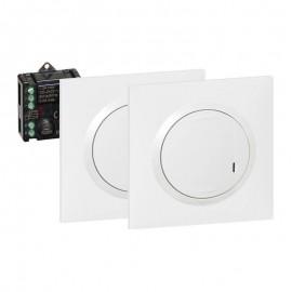 KIT dooxie va-et-vient 2 commandes sans fil + 1 micromodule - blanc - Legrand - 600699