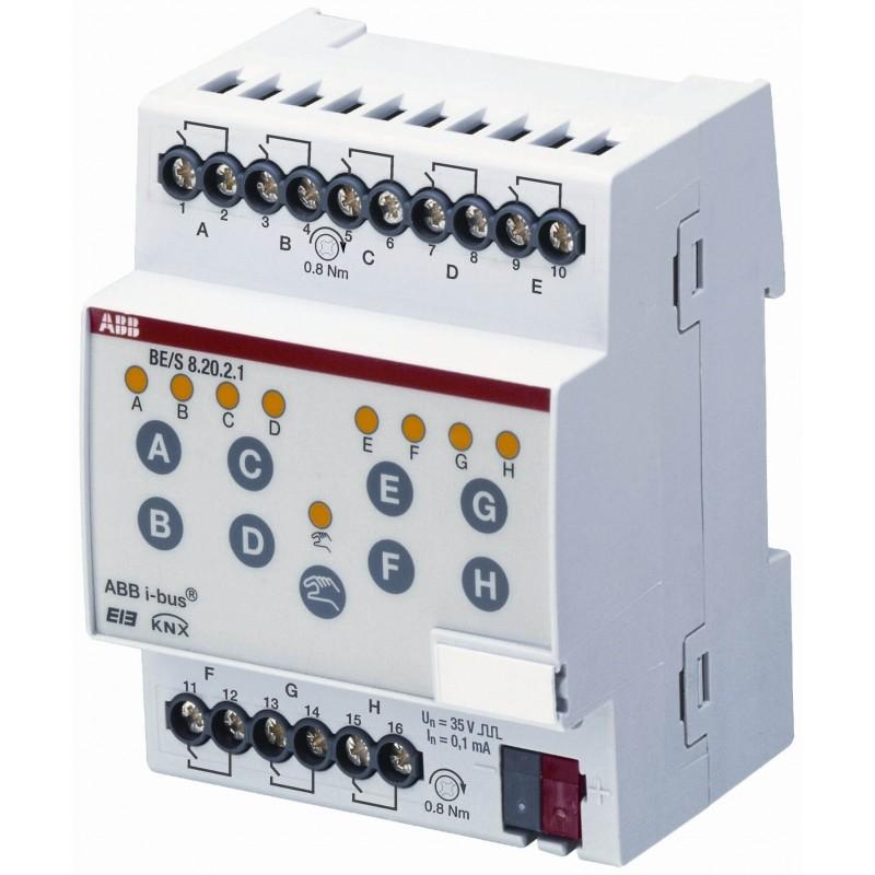 Module KNX 8 entrées TOR, lecture de contacts, MRD - BE/S8.20.2.1- ABB