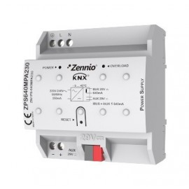 Source d'alimentation KNX 640mA avec auxiliaire de 29VDC. Vin:230VAC - Zennio - ZPS-640HIC230
