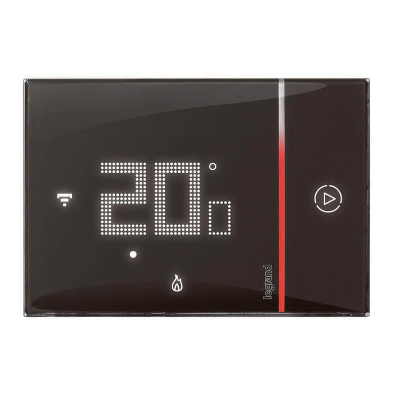 Thermostat connecté Smarther with Netatmo encastré - noir - Legrand - 049039