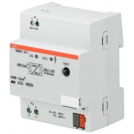 Passerelle KNX DALI avec contrôle éclairage de sécurité, 1 voie, 16 groupe, MRD - DGN/S1.16.1 - ABB