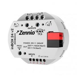 inBOX 24 v2 - Actionneur multifonction KNX à encastrer - 2 sorties 16A / 4 entrées A/N - Zennio - ZIOIB24V2