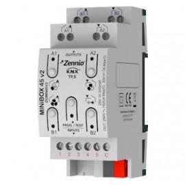 MINiBOX 45 v2 - Actionneur multifonction KNX - 4 sorties 16A / 5 entrées A/N - Zennio - ZIOMN45V2