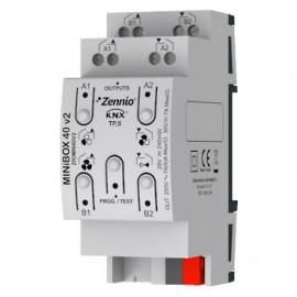 MINiBOX 40 v2 Actionneur multifonction avec 4 (16 A) sorties Zennio - ZIOMN40V2
