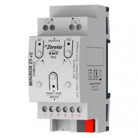 MINiBOX 25 v2 Actionneur multifonction avec 2 (16 A) sorties et 5 entrées analogique-numériques - ZIOMN25V2
