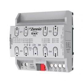 NarrowDIM X4 Actionneur variateur universel (RLC, LED, CFL) pour rail DIN - ZDINDX4 - Zennio