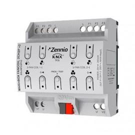 MAXinBOX FANCOIL 2CH2P v2 Actionneur de ventilo convecteur pour jusqu'à 2 unités de 2 tubes - Zennio