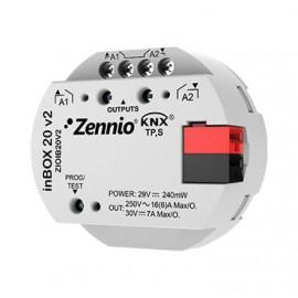 InBOX 20 v2 - Actionneur multifonction KNX à encastrer - 2 sorties 16A - Zennio - ZIOIB20V2