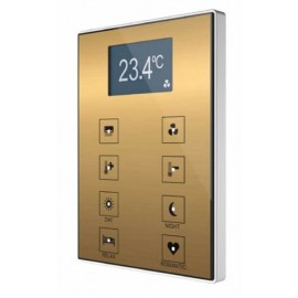 Interrupteur capacitif Touch-MyDesign avec afficheur et thermostat - Zennio