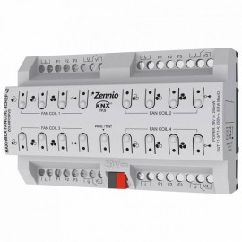 MAXinBOX FANCOIL 4CH2P v2 - Actionneur de fan-coil pour contrôle de jusqu'à 4 unités de fan-coil de 2 tubes Zennio ZCL4FC2PV2