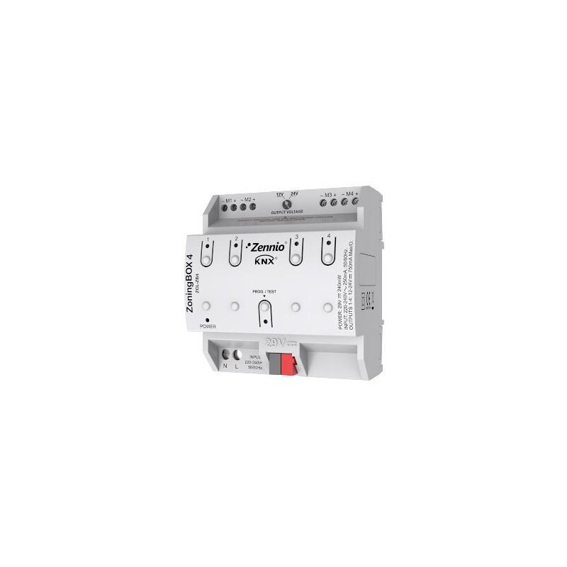 ZoningBOX 4 - Actionneur de climatisation avec zonification par conduits de jusqu'à 4 zones - Zennio - ZCL-ZB4
