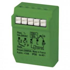 Télérupteur temporisé 2000w 10A radio power - Yokis - MTR2000ERP