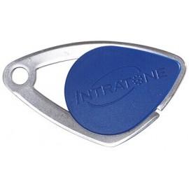 Badge électronique Mifare inox Bleu - Intratone - 08-0103