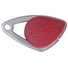 Badge électronique Mifare inox Rouge - Intratone - 08-0104