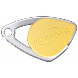 Badge électronique Mifare inox Jaune - Intratone - 08-0105