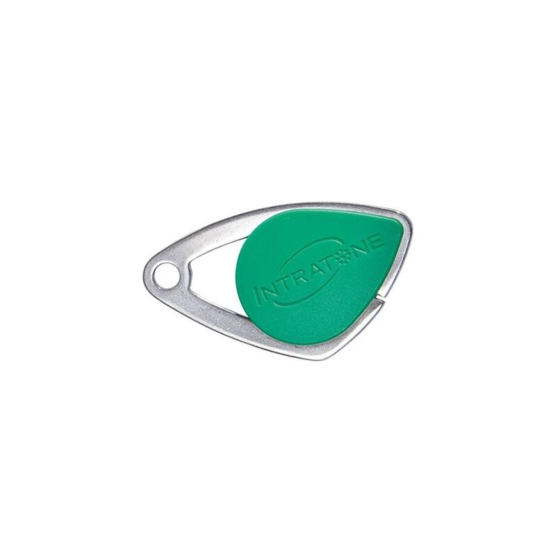Badge électronique Mifare inox Vert - Intratone - 08-0106