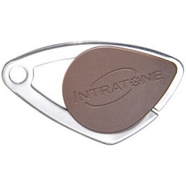 Badge électronique Mifare inox Marron - Intratone - 08-0107